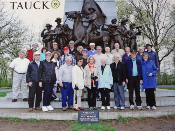 201 TAUCK Group - Most Hallowed Ground of Civil War Taken in Gettysburg @ Lee's Statue (facing the field of Picket's Charge)